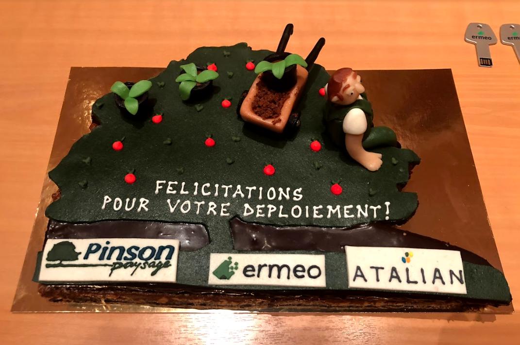 PINSON PAYSAGE Go-Live Cake : félicitations pour votre déploieement