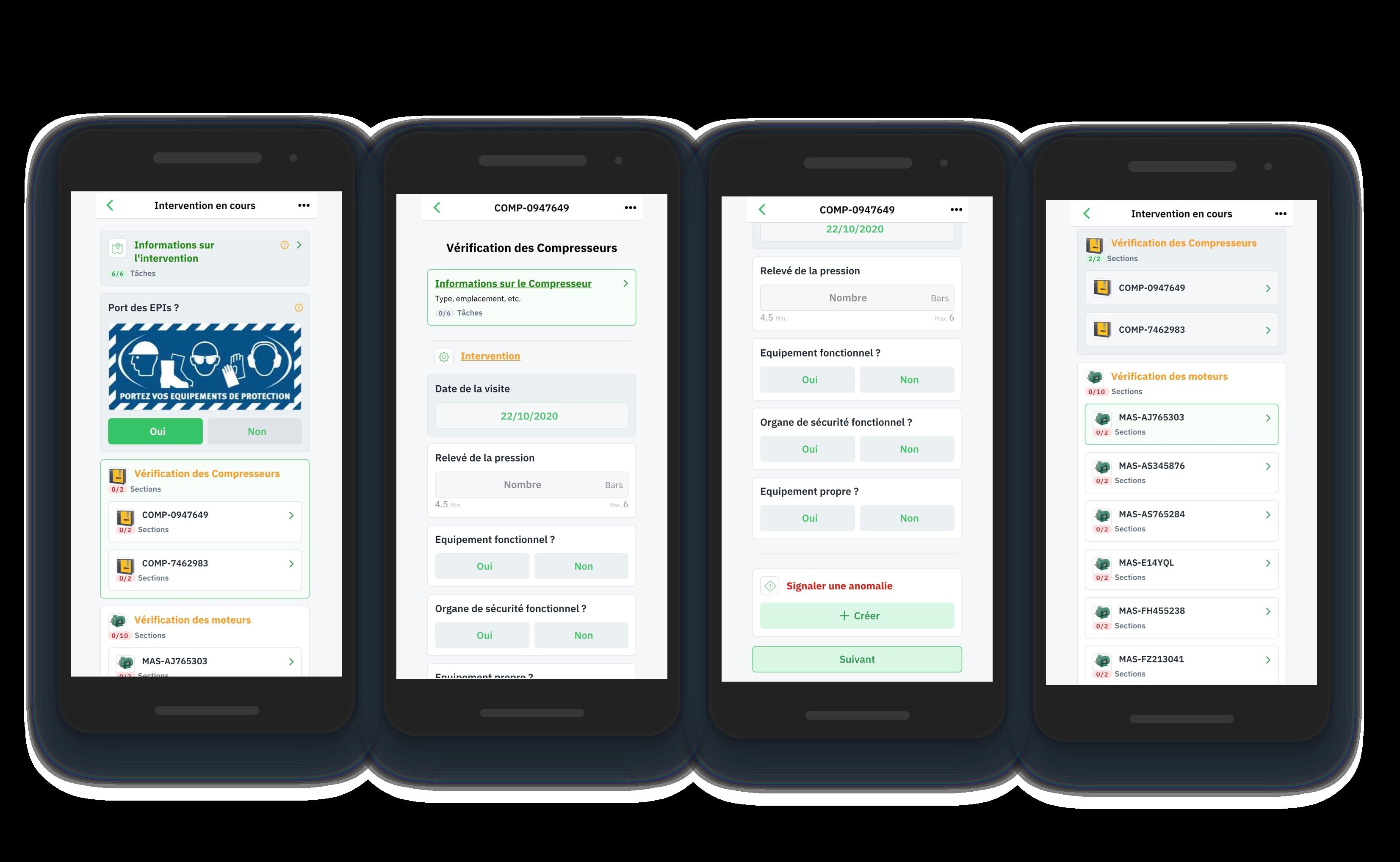 Gestion d'audit, formulaires interactifs, application mobile