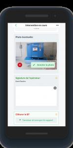 Opérateur connecté. Application mobile. Formulaire interactif Ermeo. Suivi d'intervention.
