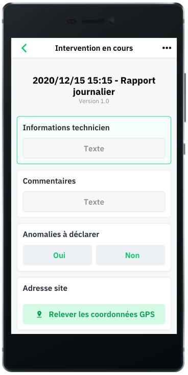 Rapport journalier. Application Mobile