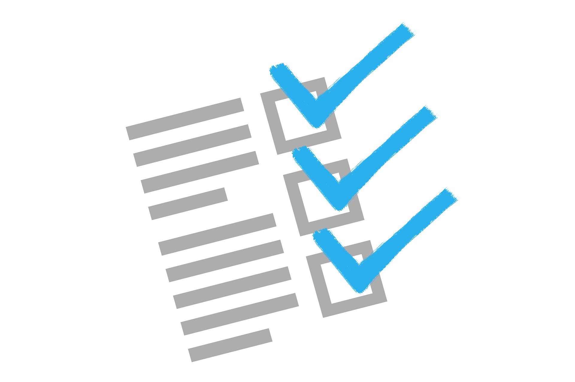 Checklist de contrôle