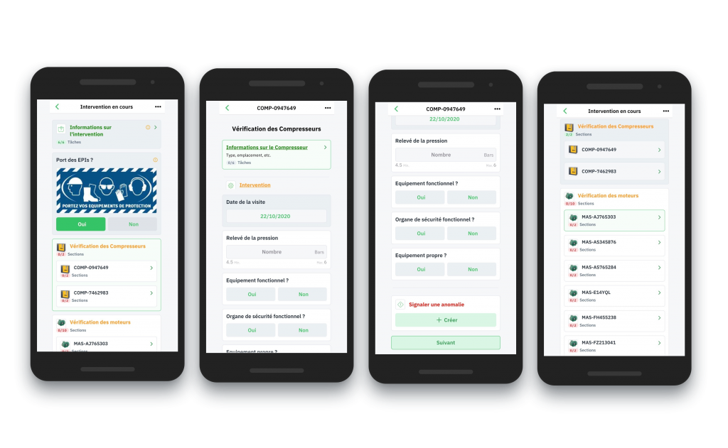 Gestion d'anomalies. Application Mobile