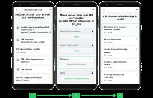 Application mobile Ermeo (IOS, Android) destinée aux techniciens, opérateurs terrain, experts terrain. Formulaires interactifs pour la réalisation d'audit (CEE).