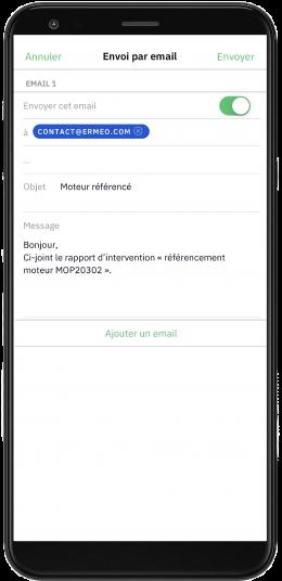 demo suivi equipement mail